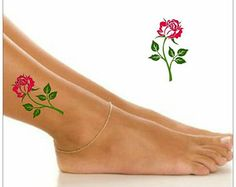 Temporary Tattoo Flower Waterproof Ultra Thin Realistic Fake