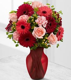 Beautiful Beginnings Valentine's Day Bouquet - 21 Stems - VASE INCLUDED