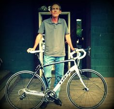 Jim and his new Trek, ready to ride.