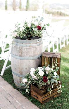 33 ideas for wedding ceremony decorations aisle wine barrels Rustic Wedding Decor Wedding Ceremony Ideas, Wedding Table, Backdrop Wedding, Wedding Ceremonies, Ceremony Backdrop, Wedding Aisles, Diy Wedding, Wedding Receptions, Spring Wedding