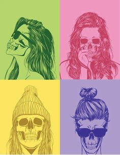 Stylish skulls. Good for a picture ion my wall(: