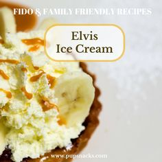 Elvis' ice cream is a great summer treat! Many dogs, and people for that matter, are intolerant to lactose... so this is a great way to eat ice cream without any issues!  Try out the recipe: http://pupsnacks.com/elvis-ice-cream/