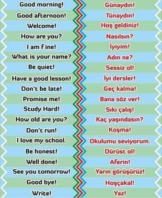 Learn Turkish Language, Arabic Language, Learn A New Language, French Love Quotes, Learning Languages Tips, Turkish Lessons, Living English, Arabic Phrases, English Lessons For Kids