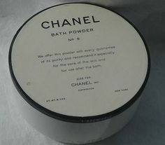 This was my Mother's Favorite perfume and powder...<3     Vintage RARE Chanel No 5 Perfume Bath Powder