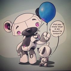 #marchofrobots 14-003 'Blue Balloon by Dacosta! www.marchofrobots.com #robot