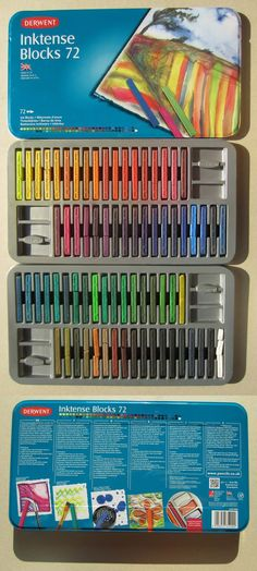 Derwent Inktense Blocks 72 ~ OH YUMMY! These are going on my wish list right now!
