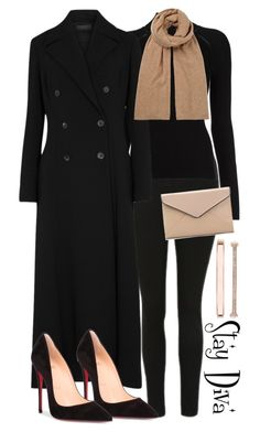 """Selena Gómez"" by staydiva on Polyvore featuring moda, Anne Klein, The Row, Christian Louboutin, Hush y La Diva"
