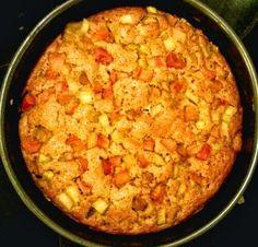 Orkiszowa Kuchnia Anny: Uciarane ciasto z rabarbarem