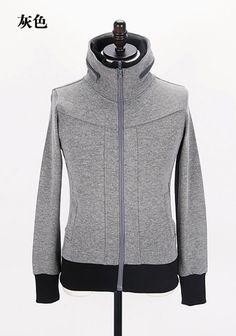 Men New Style Autumn Sport Casual Pattern Long Sleeve Grey Cotton Hoodie M/L/XL@Q10g
