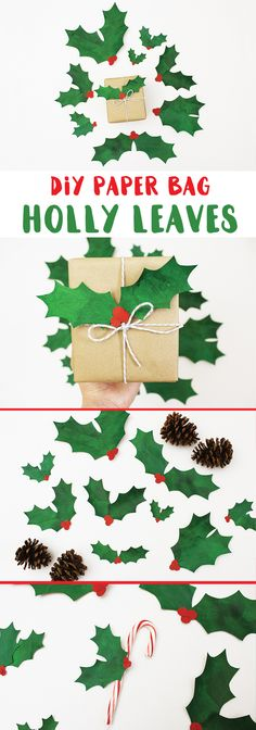 52 ideas for diy paper bag pictures Christmas Leaves, Christmas Bags, Christmas Crafts, Christmas Decorations, Christmas Nativity, Christmas Ideas, Diy Gifts To Sell, Diy Food Gifts, Paper Bag Decoration