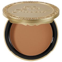 What it is:A delectable matte bronzer.What it does:Too Faced Chocolate Soleil Matte Bronzing Powder makes getting glam-and-tan downright delicious. Too Faced combines the natural, therapeutic effects of real cocoa powder with their signature bronzing