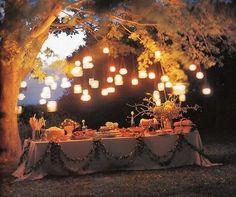Hochzeitsdeko für den Garten