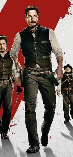 """fuertecito: """" High-res detail of Chris Pratt in the poster for 'The Magnificent Seven'. """""""