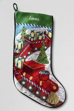 Needlepoint Christmas Stocking from Lands' End