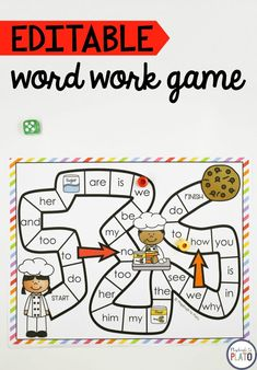 Free editable word work game! What an awesome sight word activity for literacy centers!