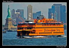 The free Staten Island Ferry connects the borough to Manhattan and is a popular tourist attraction, providing views of the Statue of Liberty, Ellis Island, and lower Manhattan.  Staten Island is overall the most suburban of the five boroughs of New York City. Staten Island has about half the protected wooded area of the city.