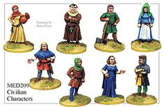 Medieval Hundred Years War - Civilian Characters - MED209