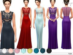 Sims 4 CC's - The Best: Baroque Lace Bodice Dress by Ekinege