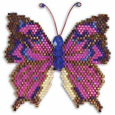 How to Make a Brick Stitch Butterfly ~ Seed Bead Tutorials