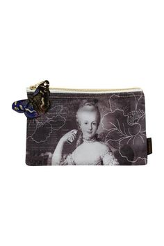 """Description: A covetable cosmetic tote to house a delightful world of curiosities. Eclectic imagery will carry you away from the everyday, with glittered paper butterfly tag perched as if ready to take flight.     Dimensions: 9.25""""L x 5.75""""W   Marie Antoinette Bag by TokyoMilk. Bags - Cosmetic Pouches California"""