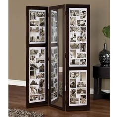 AZ Home and Gifts Preston 5.4 ft. x 3.5 ft. Standing 3-Panel Screen with Mirror-PN18734-6 - The Home Depot