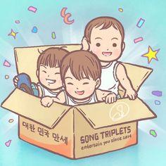 Song Triplets ~ Entertain you since 2014! Happy 1st anniversary Daehan Minguk Manse  #DaehanMingukManse #송대한 #송민국 #송만세 #대한민국만세#SongIlKook #송일국 #TeamDaehanMingukManse #TeamSongIlKook