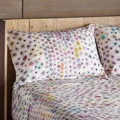 ALPINE MEADOWS PILLOWCASES, SET OF 2 -- This cheerful, all-cotton, printed pillowcase set brings an air of contentment morning or evening with its watercolor-like impression. Set of Imported. Standard, x Bed Sheet Sets, Bed Sheets, Alpine Meadow, Daisy Pattern, Cotton Bedding, Master Closet, Queen, Furniture Decor, Bed Pillows