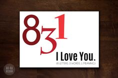 831 I Love You Digital Greeting Card by AhHaDesign on Etsy