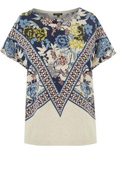 Clothing | Other BORDER PRINT KNITTED TOP | Warehouse