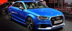 Dòng xe sedan thể thao Audi RS3 2017 được trang bị động cơ 2.5L tăng áp cho công suất lên đến 395 mã lực, cạnh tranh với Mercedes-AMG CLA 45 2017