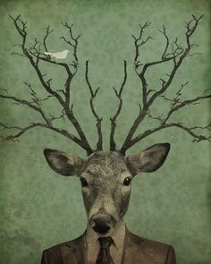 'Leroy's Antlers', This is hanging in my office.
