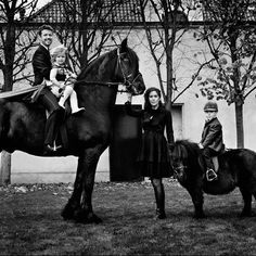 Photo taken by Marc Hom for Vogue German in 2010. Crown Prince Frederik, Princess Isabella, Crown Princess Mary and Prince Christian