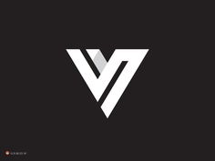 V logo design monogram by George Bokhua black and white typography design art inspiration ideas