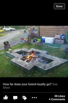 Chevy Bowtie Fire Pit. How far does your brand loyalty run?