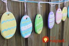 Preschool Crafts for Kids*: Easy Salt Dough Easter Egg Garland Craft Easter Projects, Easter Crafts For Kids, Craft Kids, Easter Ideas, Easter Activities, Preschool Crafts, Easter Eggs Kids, Salt Dough Crafts, Easter Garland