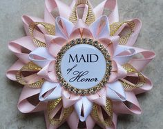 Pink Bridal Shower Decorations Mother of the by PetalPerceptions