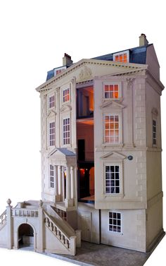 Handmade Classic English Unfurnished Dollhouse by Mulvany & Rogers - Moda Operandi (jt-another view of this beautiful house .. pinned earlier)