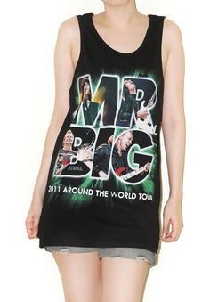 Mr.Big Black Tank Top Singlet Sleeveless Indie Punk Rock Shirt Size M