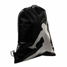 a9bd11cd5f Nike Unisex Air Jordan Jumpman ISO Gym Sack Black/Silver 9A1940-023 #Nike