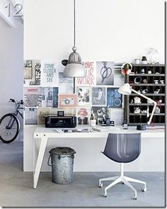 43 Wonderfull Interior Design Trends 2020 for Home Office Decoration - - Home Decor Small Workspace, Workspace Design, Office Workspace, Office Decor, Office Ideas, Desk Space, Organized Office, Office Furniture, Furniture Ideas