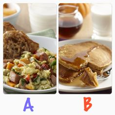 Breakfast is served! Would you pick A or B? Tacos, Mexican, Breakfast, Ethnic Recipes, Food, Morning Coffee, Meal, Essen, Hoods