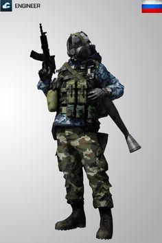 Battlefield3 Engineer RUS Soldier Iphone Wallpaper by Kikkah070