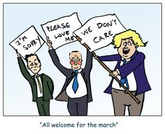 March on 20 October 2013 by Mike Nicholls Nick Cleg David Cameron and Boris Johnson,