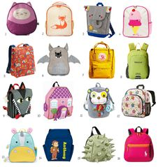 Sewing For Kids Gifts Little Backpacks for Little Kids: Best Small Bags for Toddlers - If your toddler or pre-schooler is headed off to school, daycare, or camp, here are some cute options for small backpacks sized just right for kids. Preschool Backpack, Toddler Backpack, Small Backpack, Toddler Bag, Little Backpacks, Boys Backpacks, Backpacks For Toddlers, Kids Bags, Lunch Bags For Kids
