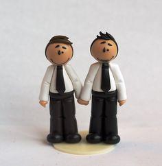 "Mini figurine de Mariage gay / Tiny cake topper ""Louis"""