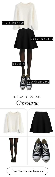 """""""Untitled #134"""" by redxlight on Polyvore featuring Boohoo, Chicwish and Converse"""