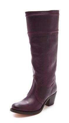 Frye Jane 14L Boots burgundy