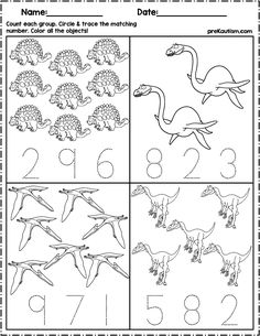 $1.50   Use these worksheets to teach quantity counting and number writing! Pack includes 10 dinosaur themed no prep worksheets. #mathcenters #math #preschool #preschoolers #preschoolactivities #kindergarten #Homeschooling #teacherspayteachers #dino #dinosaur Dinosaur Worksheets, Dinosaur Theme Preschool, Dinosaur Activities, Preschool Learning, Preschool Activities, Worksheets For Kids, Dinosaur Crafts, Vocabulary Activities, Kindergarten Math Worksheets