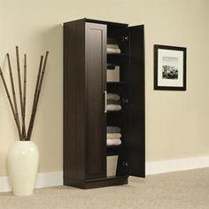 HomePlus Storage Cabinet in Dakota Oak | Nebraska Furniture Mart