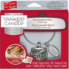 The Charming Scents Starter Kit enables you to take your beloved Yankee Candle fragrance with you to enjoy it during your car journey. Make your car smell of the absolutely delicious sweetness of rich, ripe black cherries. Charming Scents by Yankee Candle offer a decorative way to provide long-lasting fragrance in your car. #Yankees_gift_ideas #decorative_candles #candle_parties #candle_project #scent_crafts #linear_actuator